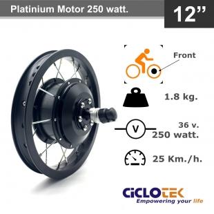 Platinium e-bike Motor 250 watt. 25 km/h 100 mm. Front