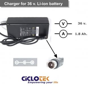 Cargador para batería de litio de 36v. tipo CK (15)  y RN
