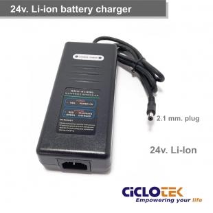 Cargador batería litio 24 v.