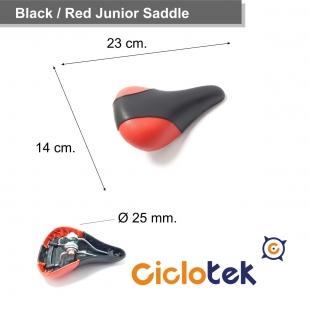 Sillín Rojo y Negro Pequeño