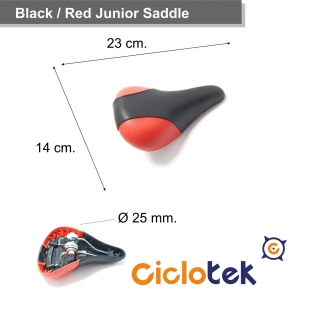 Small Red and Black Saddle