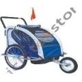 Remolque / Jogger Ciclotek 2 niños Azul