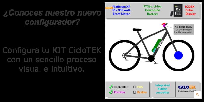 Configurador kits bicicleta ciclotek